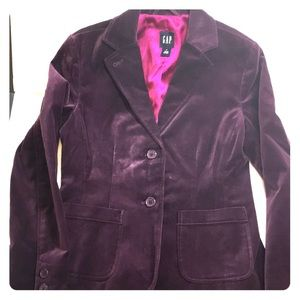 Purple velour blazer, women's 4, GAP